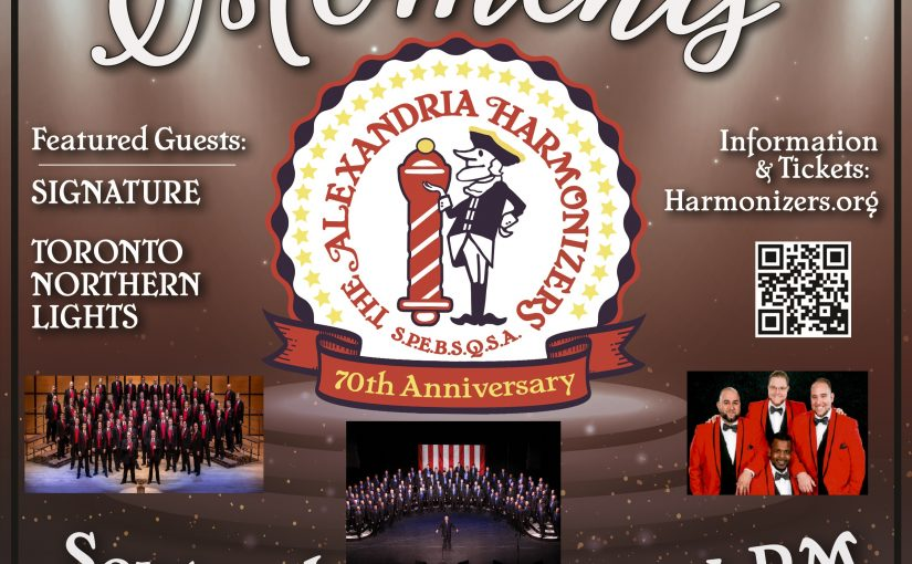 Listen Live! Platinum Moments – The Alexandria Harmonizers 70th Anniversary